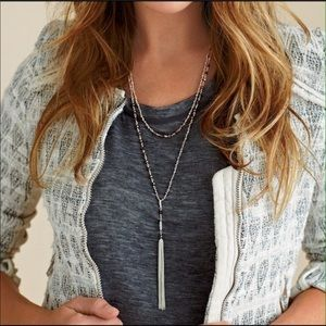 Stella & Dot- Gitane necklace silver